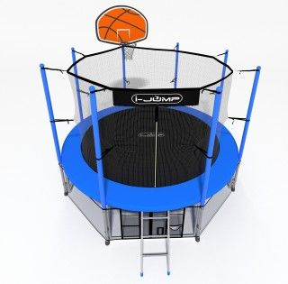 Батут i-JUMP BASKET 12ft BLUE