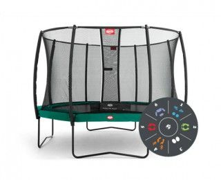 Батут Berg Champion 430 Tattoo + Safety Net Deluxe 430