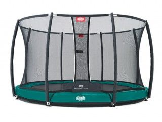 Батут Berg Elite + InGround Green 380 + Safety Net T-series 380